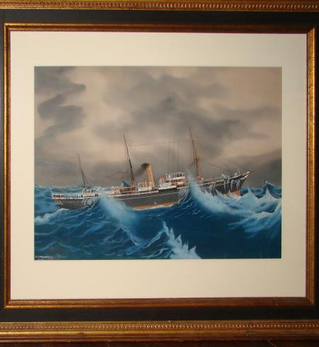 Painting of Steam Yacht - LHG9818