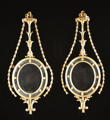 Pair of Neoclassical Gilded Mirrors  - R16125