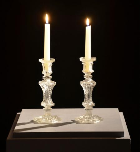 Pair of Glass Candlesticks - RDA11694