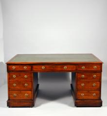 Mahogany Partners Desk - A14521