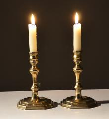 Pair Brass Candlesticks - R11627