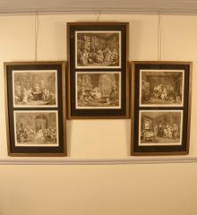"Set of Six Period William Hogarth engravings ""Marriage Å La Mode"" - R14811"