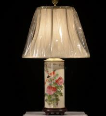 Antique Polychrome Feather Duster Lamp - RDA15260