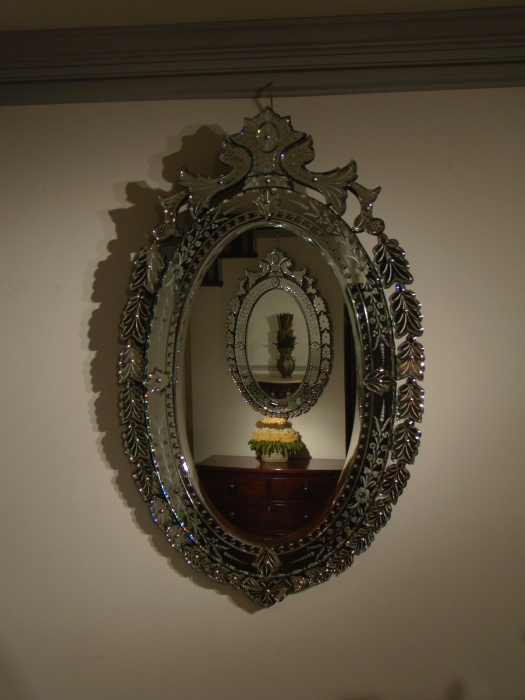 A PAIR OF VENETIAN MIRRORS R12851